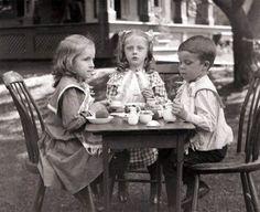 3 Children Have Tea Party