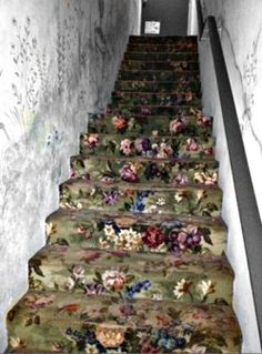 painted flower stairs