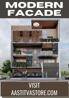 Modern Architecture Design, Facade Design, Residential Architecture, Modern Design, House Elevation, Front Elevation, Latest House Designs, Cladding, Design Ideas