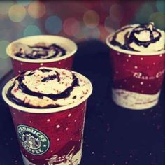 Wouldn't be Christmas without the Starbucks Red Cups! Peppermint Hot Chocolate is the best!!