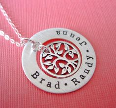 Family Names Tree of Life Hand Stamped Jewelry