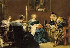 Sint Nicolaas; 17e eeuwse schilderij 'De gift van Sint-Nicolaas' van Cornelis de Vos (1584-1651). En het verhaal achter dit schilderij....leuk voor de oudere kinderen om over te praten. Zij die niet meer 'geloven' in de Goedheiligman...Praatplaat!