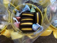 """Cute """"beehive"""" basket to give to your new beehives in Young Women!"""