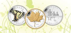"""""""Čerstvé"""" mince jarnej edície Kanadskej mincovne."""