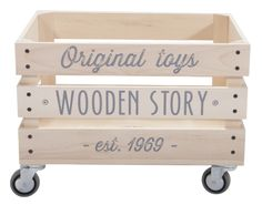 Kids Storage Wall Wooden Crates Ideas For 2019 Baby Toy Storage, Toy Storage Boxes, Nursery Storage, Crate Storage, Kids Storage, Toy Boxes, Nursery Toys, Storage Baskets, Wooden Crates On Wall