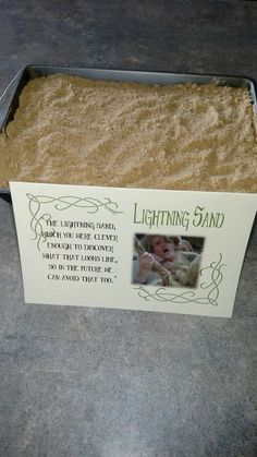Princess Bride Party... Lightning Sand