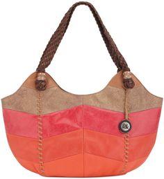 indio satchel | The Sak Indio Leather Satchel in Red (WARM CHEVRON)