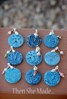 Then she made...blue pendants