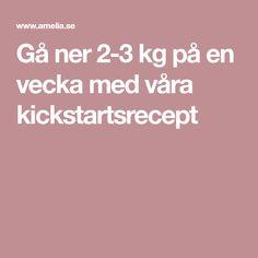 Gå ner 2-3 kg på en vecka med våra kickstartsrecept