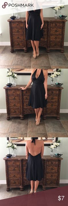 Black Silk Halter Dress Empire Waist In great condition. Just doesn't fully zip on me anymore. mixit Boutique  Dresses Mini