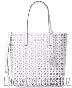 Michael Kors Hayley Medium N/S Bag in Bag Tote Top Zip  Saffiano White NWT #MichaelKors #TotesShoppers