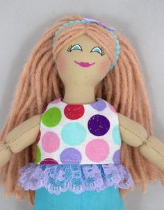 Doll With Doll Clothes  Kids Toy  Handmade