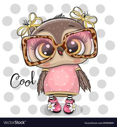 Imagens, fotos stock e vetores similares de Cute Cartoon Owl on a hearts background - 1304109256 Cartoon Cartoon, Cute Owl Cartoon, Cartoon Images, Animal Drawings, Cute Drawings, Cute Owl Drawing, Cartoon Mignon, Owl Artwork, Owl Wallpaper