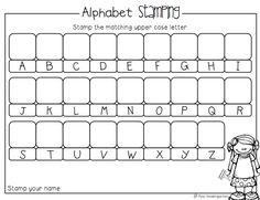 Alphabet Stamping Activity (from Miss Kindergarten)