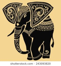 Find elephant silhouette tattoo stock images in HD and millions of other royalty-free stock photos, illustrations and vectors in the Shutterstock collection. Elephant Silhouette, Silhouette Art, Madhubani Art, Madhubani Painting, Elephant Artwork, Elephant Stencil, Elephant Elephant, Elephant Design, Mandala Art
