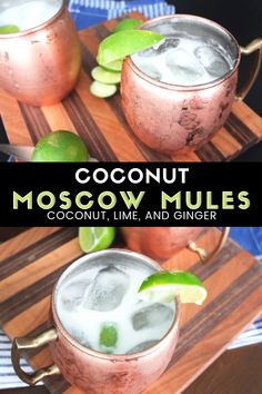 Coconut Moscow Mule A delicious summery take on a classic Moscow Mule recipe. Using coconut with the ginger beer gives this cocktail a delicious Thai taste. Refreshing Summer Cocktails, Summer Drinks, Cocktail Drinks, Cocktail Recipes, Alcoholic Drinks, Grapefruit Cocktail, Classic Vodka Cocktails, Beverages, Mule Drink
