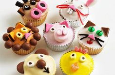 Animal fairy cakes recipe - goodtoknow