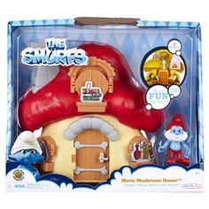 Smurfs Movie Mushroom House Papa Smurf's House with Papa Smurf Figure NIB #JakksPacific