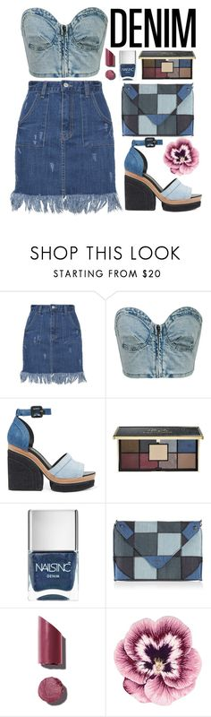"""""""× when in doubt, wear denim ×"""" by black4ever ❤ liked on Polyvore featuring Chicnova Fashion, Pierre Hardy, Ciaté, Nails Inc., Diesel, Chanel, Nourison and Denimondenim"""