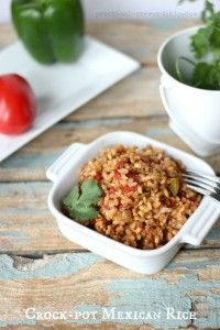 Crock Pot Mexican Rice or Spanish Rice Recipe