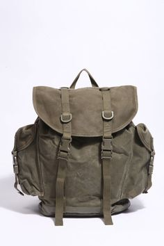 German Military Surplus Mountain Backpack Rubberized Canvas ...