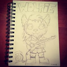 Studio Longoria works in progress. Monster Girl Challenge. Wolfie the werewolf. When the full moon comes out she loves to rock. You'll find her on stage with her grunge band Big Bad Moon.