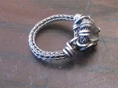 Viking Knit Ring--try with crocheted cord