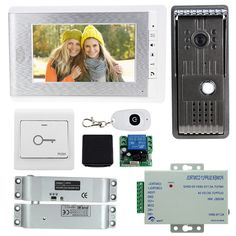 117.09$  Watch now - http://alixt8.worldwells.pw/go.php?t=32791388904 - Home secure 7'' wired intercom system kit set 1 color video door phone+1 doorbell camera with electric bolt lock+door switch 117.09$
