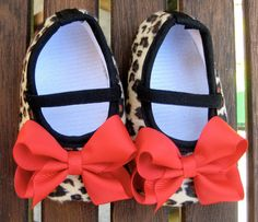 Rockabilly Baby Girl Cheetah Crib Shoe's. $11.00, via Etsy.