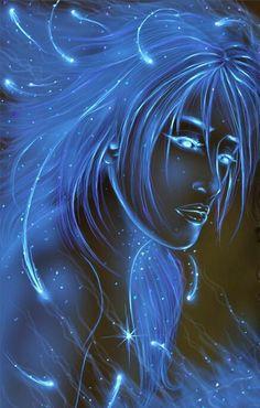 Blue glowing fairy