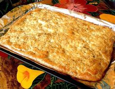 FOCACCIA BREAD   This delicious, savory bread pairs well with practically any meal. My husband likes this tasty bread as a medium for b...