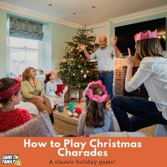 How to Play Christmas Charades: free printable games! Fun Christmas Games, Holiday Party Games, Holiday Parties, Fun Games, Games To Play, Charades Game, Free Printables, Cheer, Sumo