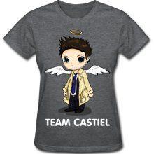 Team Castiel (dark) Women's T-Shirts, Women's Standard Weight T-Shirt