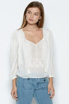 Callaway Top BY joie www.premiumboutique.com For Love And Lemons, Handbag Accessories, Spring 2016, Casual, Cotton, Shopping, Clothes, Dresses, Style