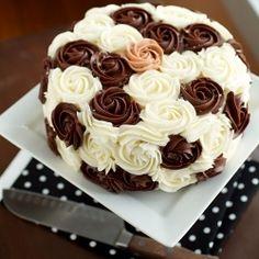 Chocolate & Vanilla layer cake