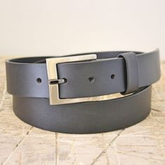 Belt No. 2 leather belt. From the Broundal collection of handmade leather goods designed and produced in Denmark.