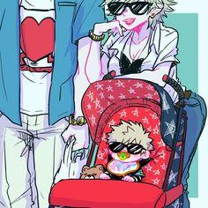 This family Bakugou knows what's around! ☻    Boku no Hero Academia, My Hero Academia [Katsuki Bakugo, Mitsuki Bakugo, Masaru Bakugo]