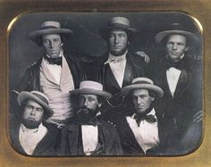 The New York Knickerbockers Base Ball Club, circa 1847. Alexander Cartwright is in the upper row center. [Public domain]