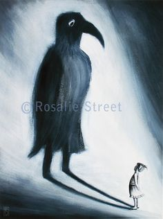 Shadow Bird by BirdrockDesigns on Etsy, $24.00
