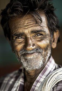 Portrait of a villager by Vidhya Thiagarajan