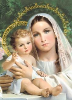 Jesus Mother, Blessed Mother Mary, Blessed Virgin Mary, Mother And Child, Baby Jesus, Jesus And Mary Pictures, Mary And Jesus, Catholic Art, Religious Art