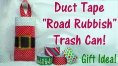 Road Rubbish Container Dollar Tree Duct Tape Gift Idea {Collab with SoCraftastic} CRAFTmas! Woodworking For Mere Mortals, Woodworking For Kids, Trash Can For Car, Car Trash, Christmas Crafts, Christmas Decorations, Christmas Ornaments, Duck Tape Crafts, Craft Tutorials