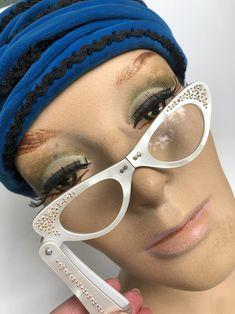 Vintage Lucite Lorgnette Cat Eye Glasses Reading Glasses | Etsy