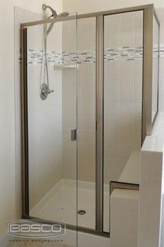 Brushed Nickel Framed Shower Doors