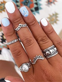 Nail Jewelry, Prom Jewelry, Cute Jewelry, Simple Acrylic Nails, Acrylic Nail Designs, Simple Nails, Cowboy Nails, Gel Nails, Manicure