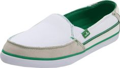 Sanuk Womens Standard Streaker SlipOnWhiteGreen7 M US -- To view further for this item, visit the affiliate link Amazon.com.