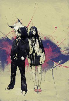 Horse Boy by Russ Mills. Love this illustrator. The Psychedelic Furs, Design Comics, Kunst Online, Painter Artist, Museum, Street Art Graffiti, Graphic Design Inspiration, Urban Art, Cool Artwork