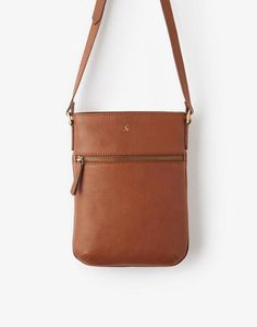 Mayfair Dark Tan Leather Bag , Size One Size | Joules UK