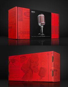 Shure Special Edition Microphone Designed by MiresBall l USA Packaging Design, Usa, Places, Cover, Bag Packaging, Trends, Design Packaging, Package Design, Lugares
