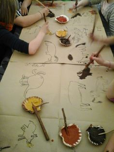 Stone Age Ks2, Painting For Kids, Art For Kids, Archaeology For Kids, Dinosaur History, Art Pariétal, Prehistoric Age, Lascaux, 7 Arts